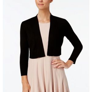 Calvin Klein Cropped Open-Front Cardigan,XL